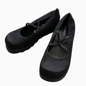 90s Style Goth Black Platform Mary Jane Shoes